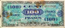 France 100 Francs Impr. américaine (drapeau) - 1944 - Sans série - TB