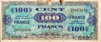 France 100 Francs Impr. américaine (drapeau) - 1944 - Série 5 - TB