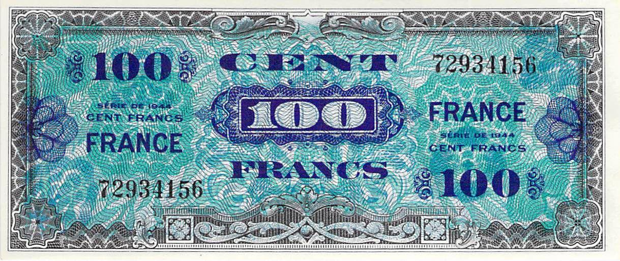 France 100 Francs Impr. américaine (France) - 1945 Sans Série - SUP+