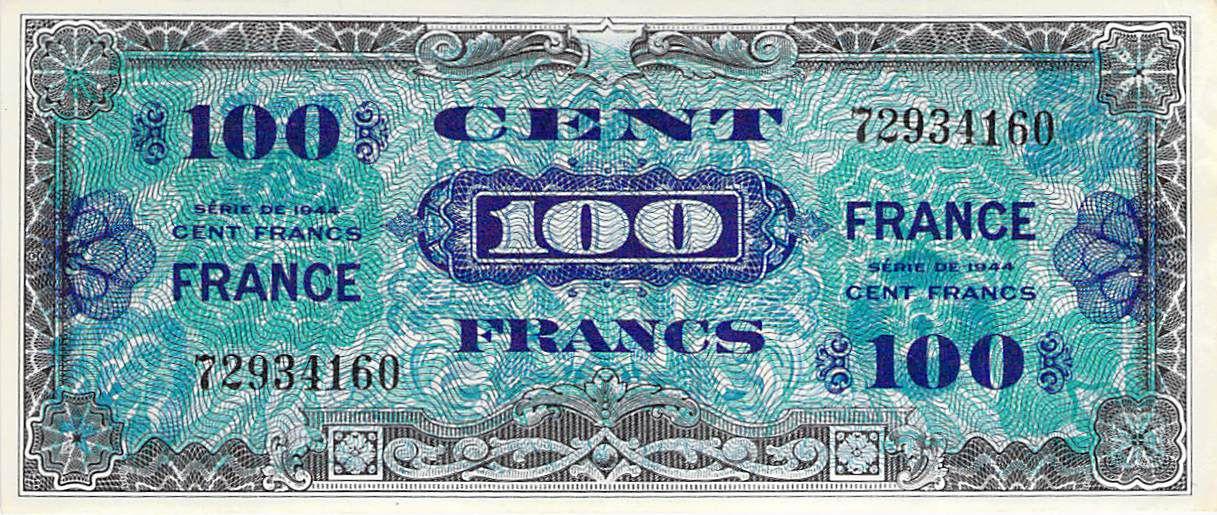 France 100 Francs Impr. américaine (France) - 1945 Sans Série - SUP