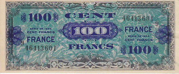 France 100 Francs Impr. américaine (France) - 1945 Série 9