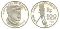 France 100 Francs Jean Renoir - 100 years of Cinema - 1995 Proof