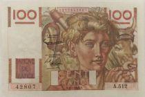 France 100 Francs Jeune Paysan - 02-01-1953 - Série A.512 - SUP+
