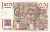 France 100 Francs Jeune Paysan - 02-01-1953 - Série F.517