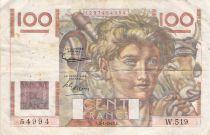 France 100 Francs Jeune Paysan - 02-01-1953 - Série W.519 - TB+