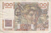 France 100 Francs Jeune Paysan - 02-10-1952 - Série K.501 - TB+