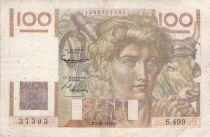 France 100 Francs Jeune Paysan - 02-10-1952 - Série S.499 - Filigrane inversé - TB