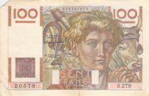 France 100 Francs Jeune Paysan - 02-12-1948 - Série S.279 - TB
