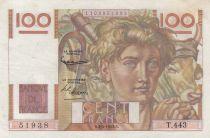 France 100 Francs Jeune Paysan - 03-04-1952 - Série T.443