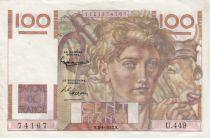 France 100 Francs Jeune Paysan - 03-04-1952 - Série U.449