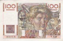 France 100 Francs Jeune Paysan - 03-04-1952 - Série Y.449 - TTB+