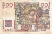 France 100 Francs Jeune Paysan - 04-03-1954 - Série O.590 - Filigrane inversé - TB