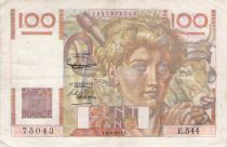 France 100 Francs Jeune Paysan - 04-06-1953 - Série E.544 - TTB