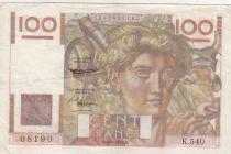 France 100 Francs Jeune Paysan - 04-06-1953 - Série K.540