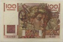 France 100 Francs Jeune Paysan - 04-06-1953 - Série Q.547 - TTB