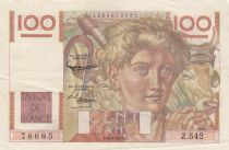 France 100 Francs Jeune Paysan - 04-06-1953 - Série Z.542