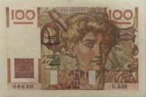 France 100 Francs Jeune Paysan - 05-02-1953 - Série U.538 - TTB