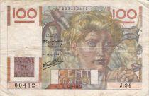 France 100 Francs Jeune Paysan - 05-09-1946 - Série J.94 - TB