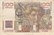France 100 Francs Jeune Paysan - 06-08-1953 - Série E.553 - Filigrane inversé - TB