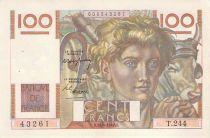 France 100 Francs Jeune Paysan - 15-04-1948 - Série T.244 - TTB+