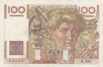 France 100 Francs Jeune Paysan - 16-11-1950 - Série K.390