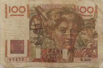 France 100 Francs Jeune Paysan - 17-02-1949 - Série B.300 - TB