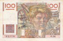 France 100 Francs Jeune Paysan - 18-04-1946 - Série O.34 - PTTB