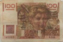France 100 Francs Jeune Paysan - 19-05-1949 - Série A.344 - TTB