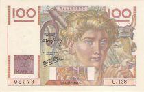 France 100 Francs Jeune Paysan - 21-11-1946 - Série U.128 - TTB+