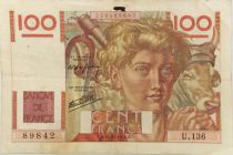 France 100 Francs Jeune Paysan - 21-11-1946 - Série U.136 - TTB
