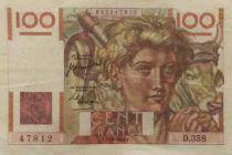 France 100 Francs Jeune Paysan - 29-06-1950 - Série D.358 - TTB