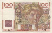 France 100 Francs Jeune Paysan - 31-05-1946 - Série N.57 2d exemplaire