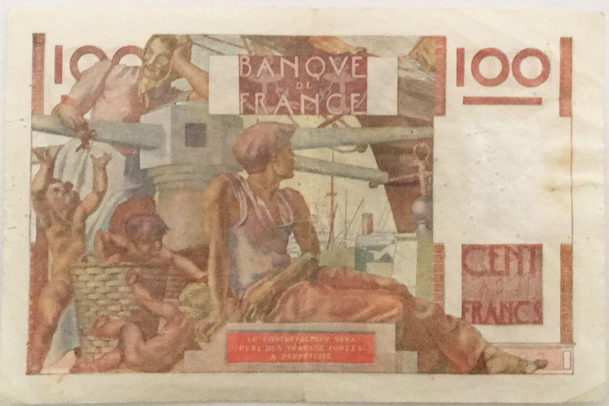 France 100 Francs Jeune Paysan - Filigrane inversé - 02-10-1952 - Série A.502 - TTB