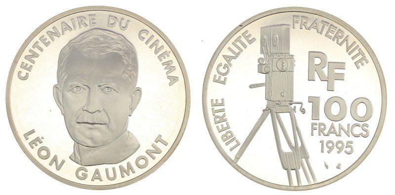 France 100 Francs Leon Gaumont - 100 years of Cinema - 1995 Proof