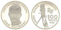 France 100 Francs Leon Gaumont - 100 years of Cinema - 1995 Proof