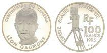 France 100 Francs Léon Gaumont - Centenaire du Cinéma - 1995