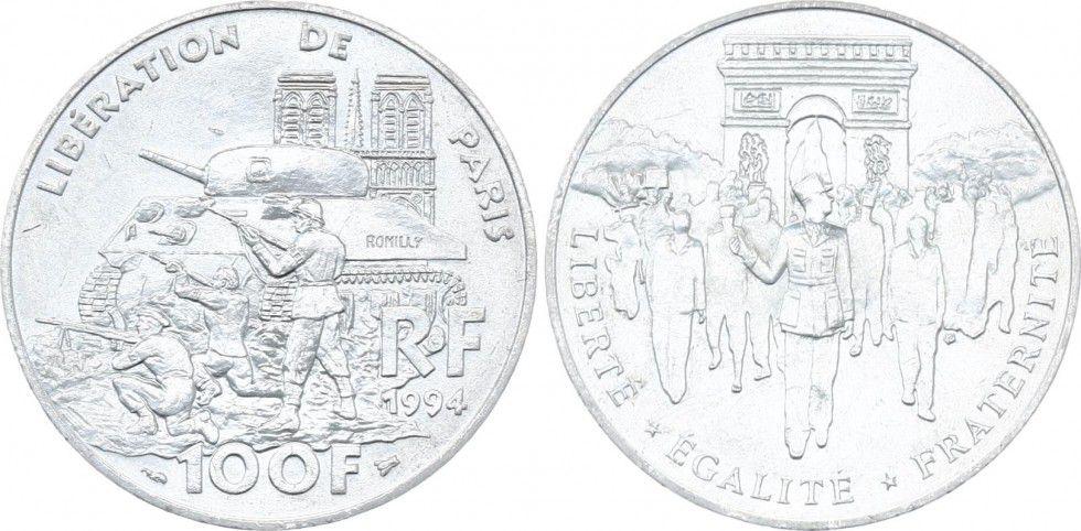 France 100 Francs Liberation of Paris 1944 - 1994