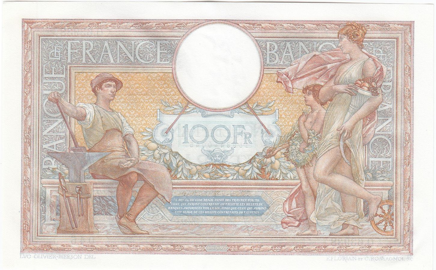 France 100 Francs Luc Olivier Merson - 02-02-1939 - P.NEUF