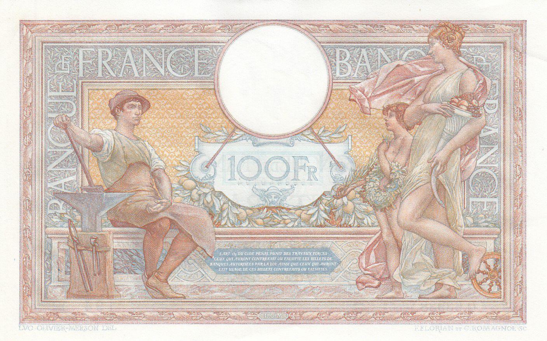 France 100 Francs Luc Olivier Merson - 02-02-1939 - SPL