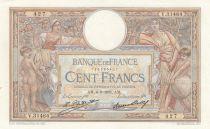 France 100 Francs Luc Olivier Merson - 06-08-1931 -  Serial V.31464