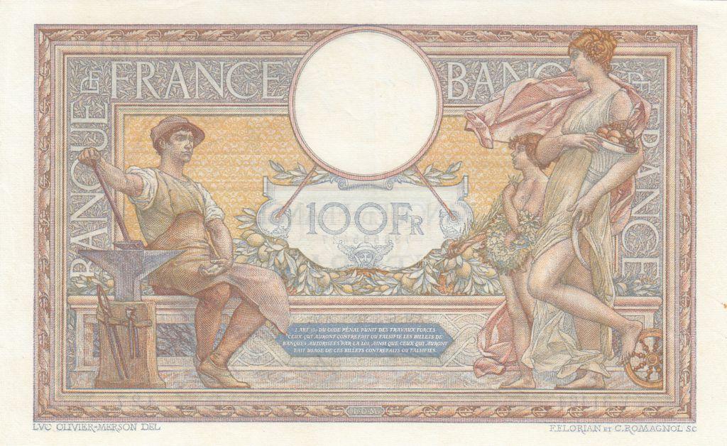 France 100 Francs Luc Olivier Merson - 06-08-1931 -  Série V.31464