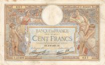 France 100 Francs Luc Olivier Merson - 09-09-1937 Série U.55495 - TB