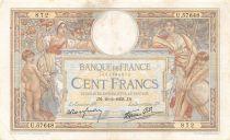 France 100 Francs Luc Olivier Merson - 10-02-1938 Série U.57648 - TTB