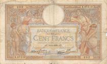 France 100 Francs Luc Olivier Merson - 14-09-1939 Série K.67519 - TB