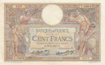 France 100 Francs Luc Olivier Merson - 19-11-1927 -  Série Y.19684