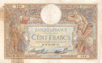 France 100 Francs Luc Olivier Merson - 21-10-1937 Série W.55722 - B+