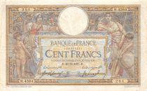 France 100 Francs Luc Olivier Merson - 29-11-1917 Série H.4364 - TB+