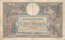 France 100 Francs Luc Olivier Merson - avec LOM 23-01-1909 - Série D..644 - TB