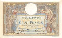 France 100 Francs Luc Olivier Merson - Grands Cartouches - 03-01-1924 Série N.10121 - SUP