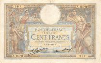 France 100 Francs Luc Olivier Merson - Grands Cartouches - 03-09-1926 Série X.15302 - TTB